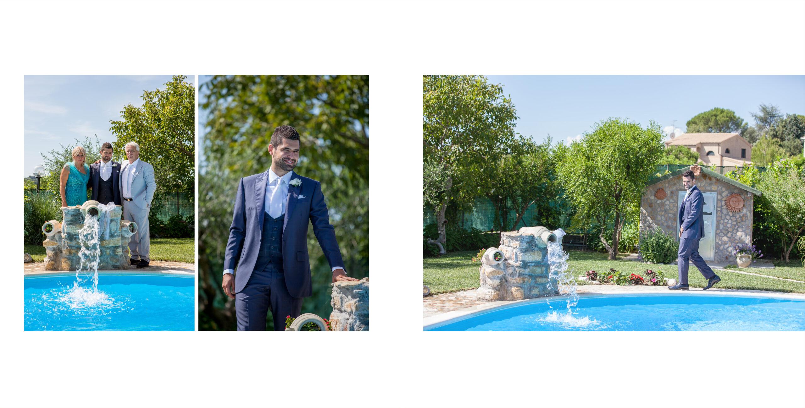 lo sposo in piscina