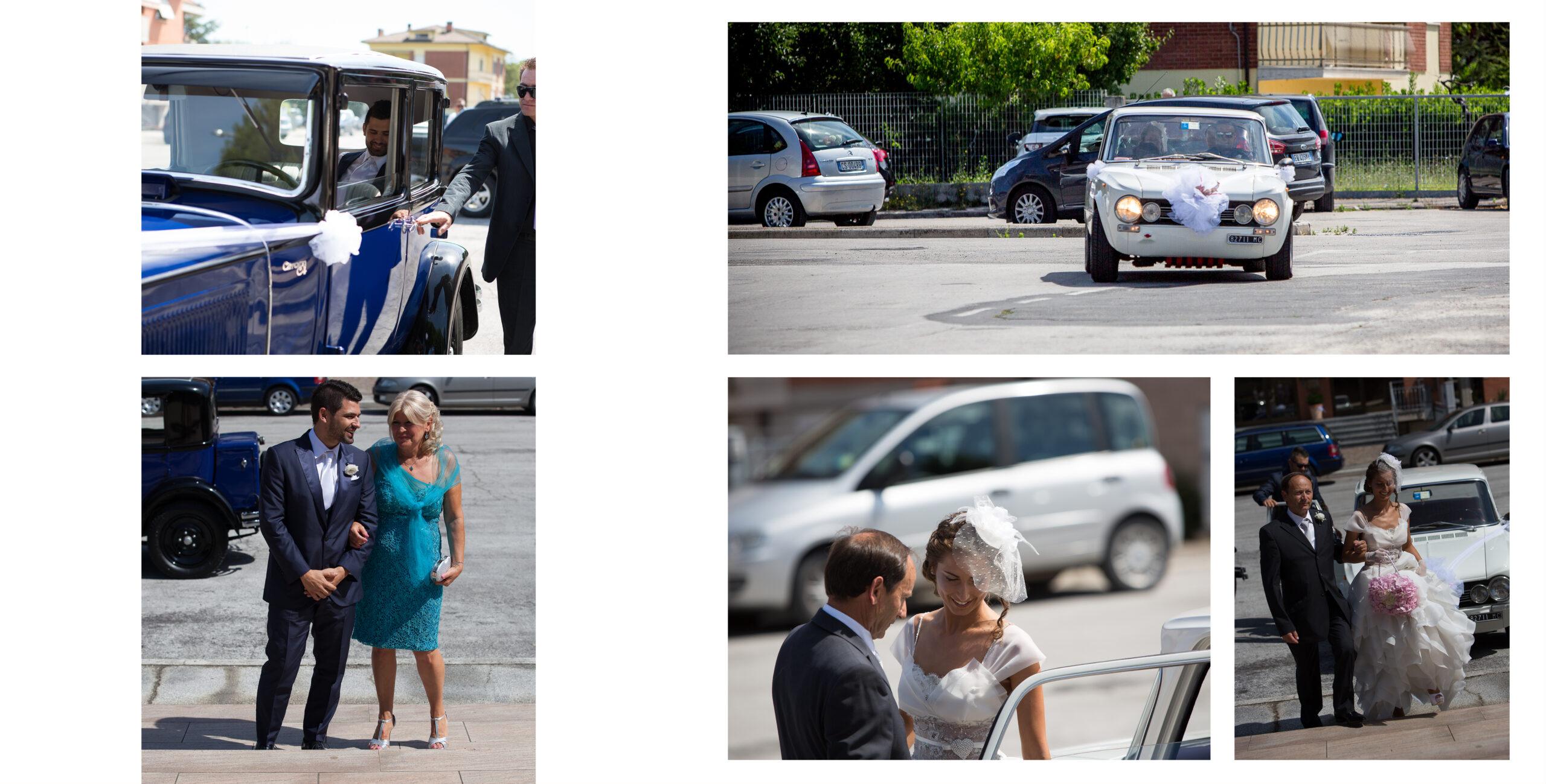 sposa arriva in chiesa