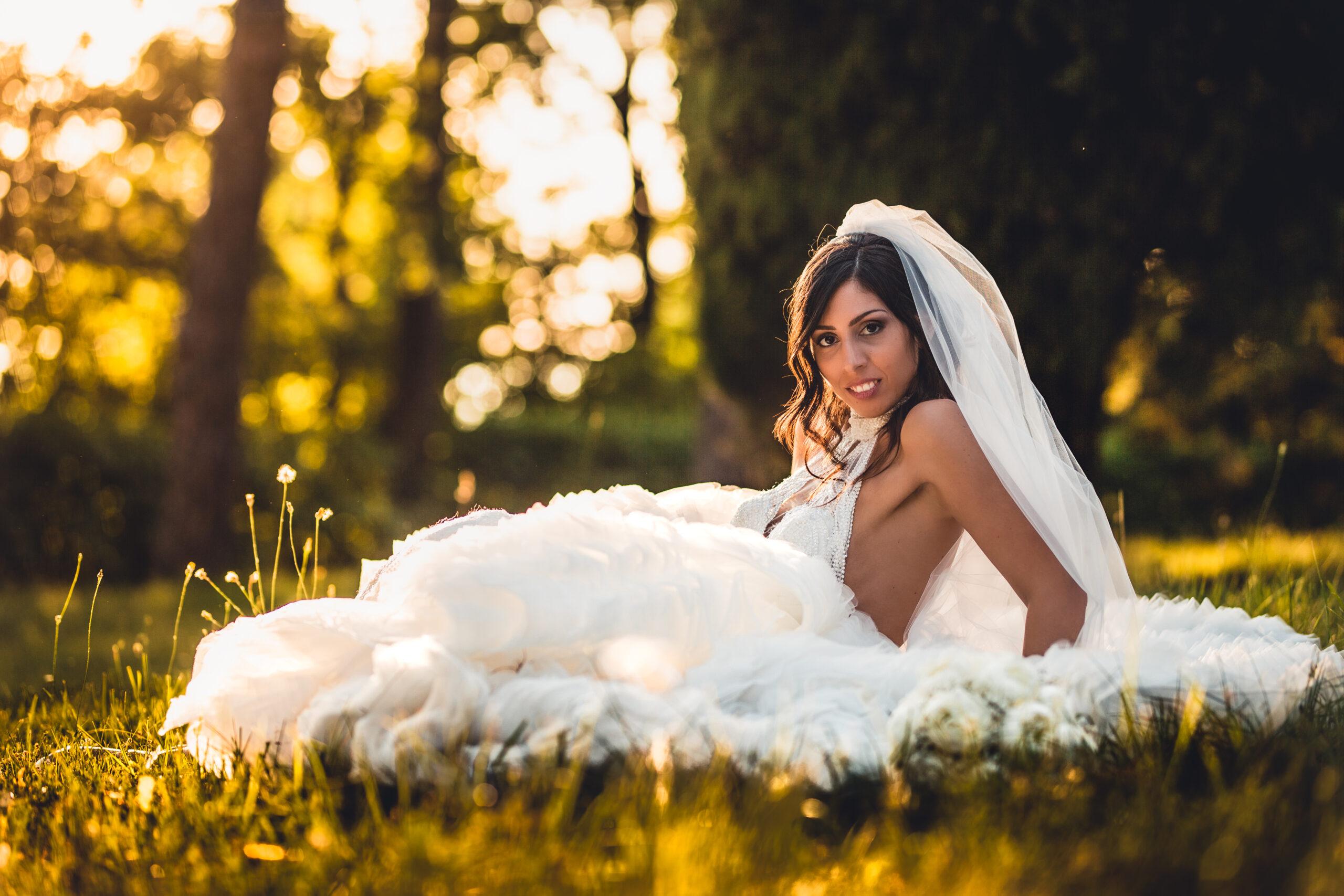 la sposa sul prato