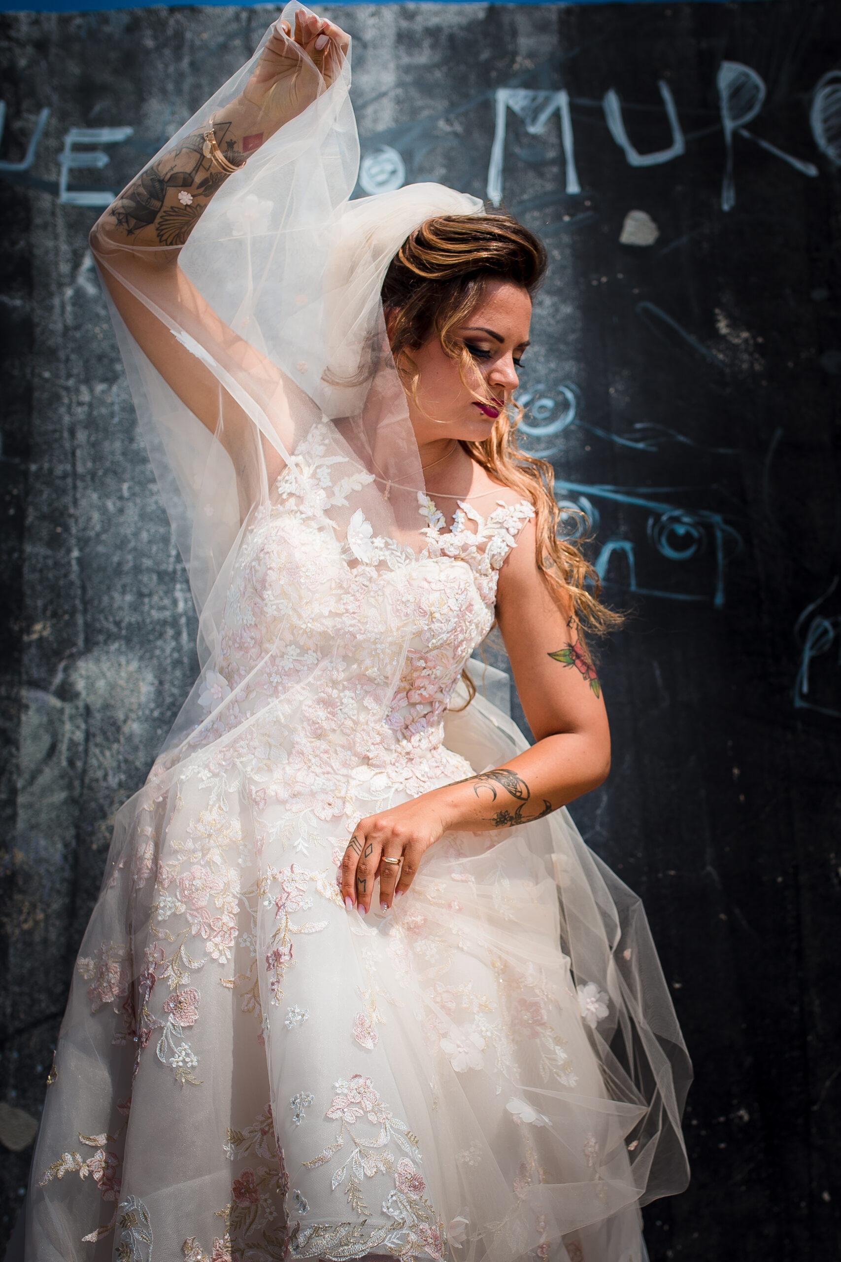 sposa in posa artistica